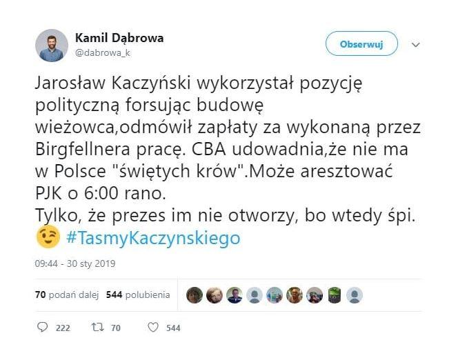 CBA może zapukać do Kaczyńskiego