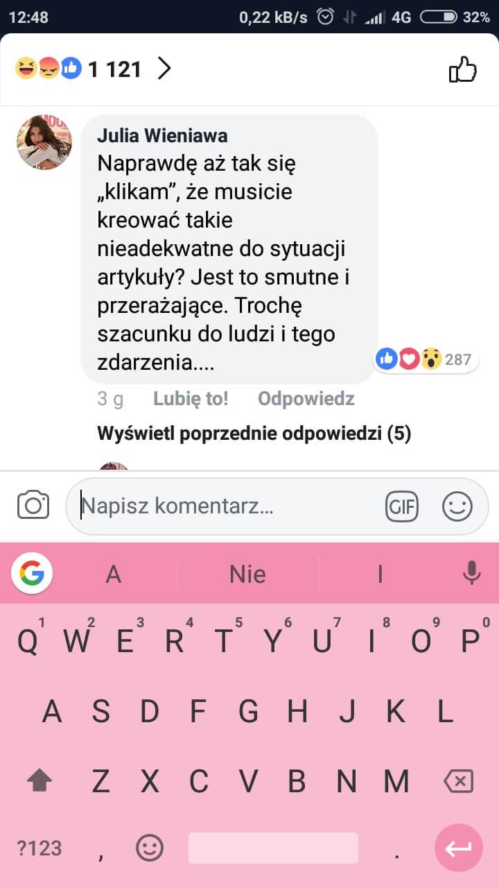 o śmierci Adamowicza