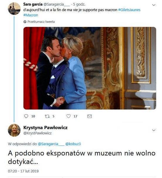 Pawłowicz zaatakowała żonę  Macrona