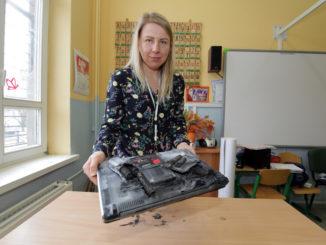 Wybuch laptopa w szkole