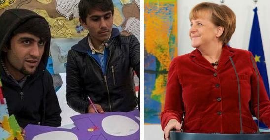 Imigranci Merkel