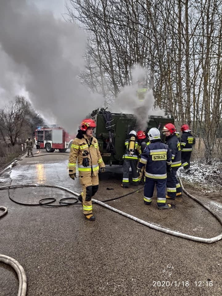 Stryker spłonęł w Polsce