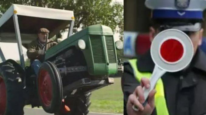 Pijany mężczyzna ukradł traktor