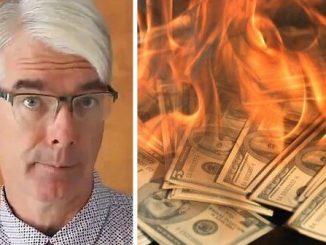 Spalił milion dolarów