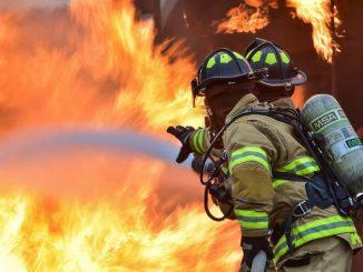 pożar altanki w Rzeszowie