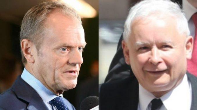 Tusk nabija się z Kaczyńskiego