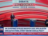 Andrzej Duda przemawia w  Końskich. Puste miejsce  dla Trzaskowskiego