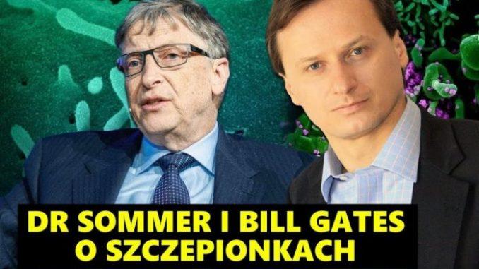 Tomasz Sommer i Bill Gates o szczepionkach