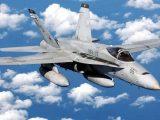 Rozbił się F-18 marynarki wojennej USA [ VIDEO]