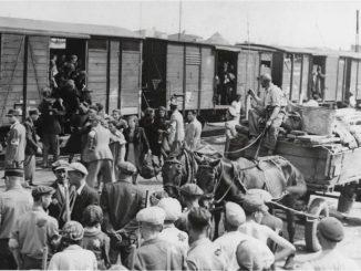kraińcy użyli zdjęcia z wywózki Żydów