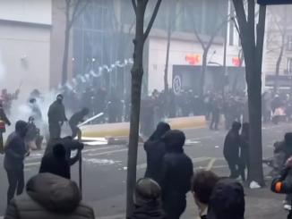 Bilans sobotnich zamieszek we FRANCJI: prawie 100 zatrzymanych, 67 policjantów RANNYCH