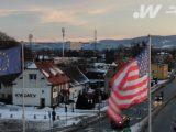 Władze Wałbrzycha wywiesiły flagę USA