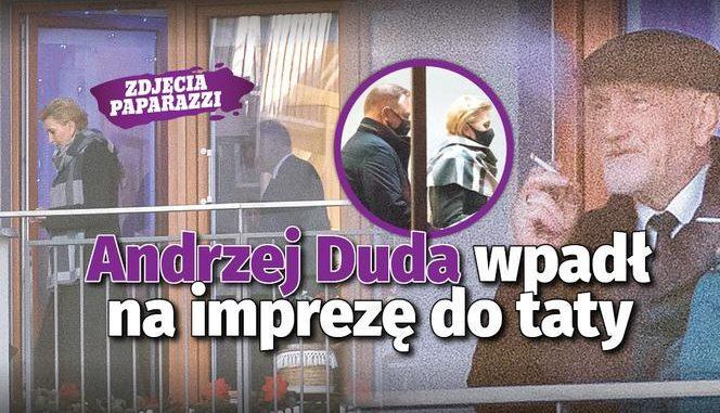 Andrzej Duda wpadł do rodziców na imprezę! [MAMY ZDJĘCIA]