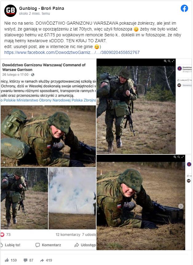 Szczegół na zdjęciach polskich żołnierzy